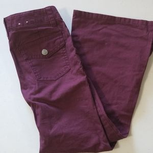 Girls brand new Mossimo flare maroon jeans!